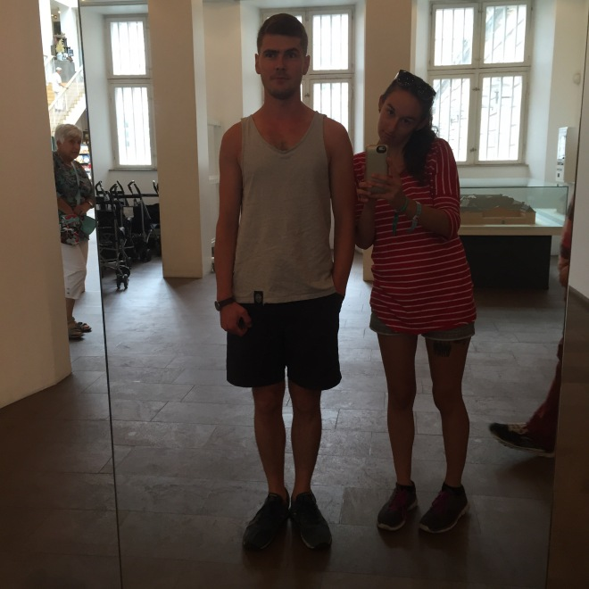 Rihards and I selfie'ing in one of the many museums of Copenhagen