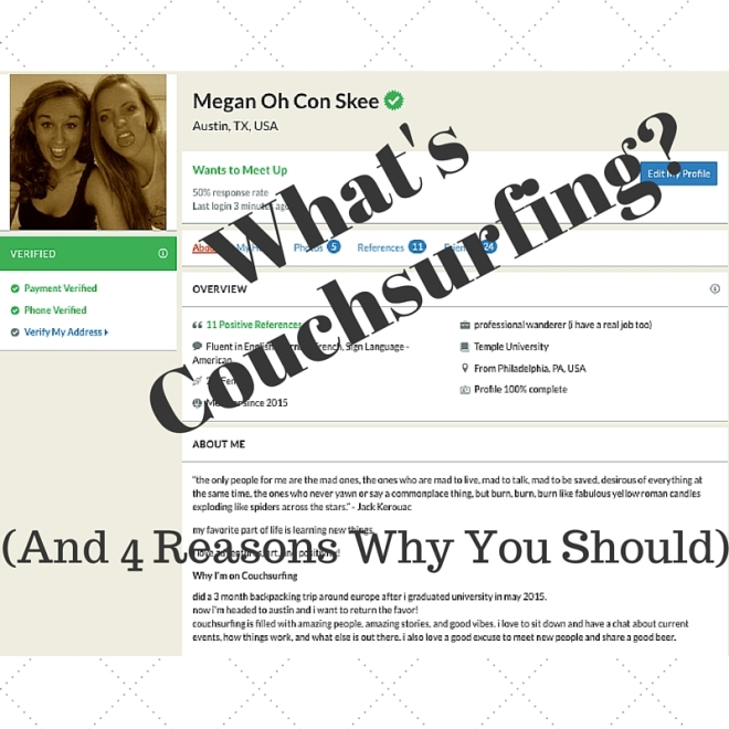 Read more about Couchsurfing and why it's so great on this blog post!!